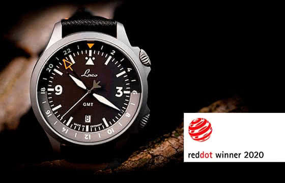 Red Dot Award - Laco GMT Fliegeruhr