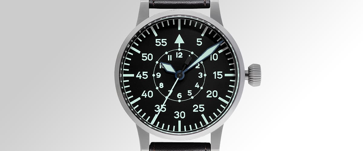 pilot watch original by laco watches model replica 55. Black Bedroom Furniture Sets. Home Design Ideas