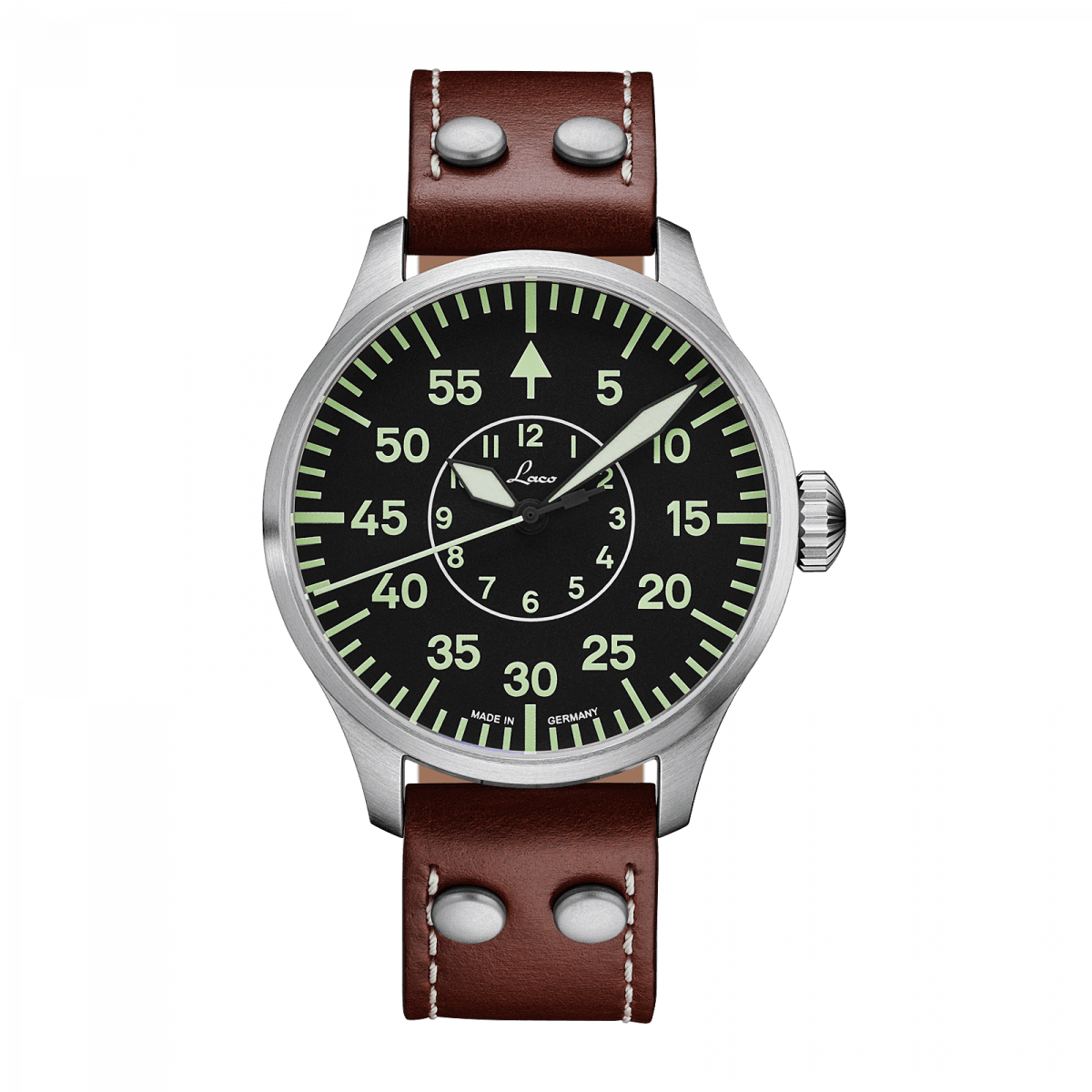 by watch fliegeruhr automatic model watches laco typ aachen strap leather b basis pilot en basic