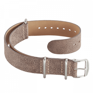 Leather Nato strap brown