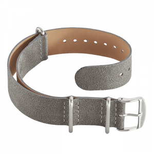 Leather Nato strap grey