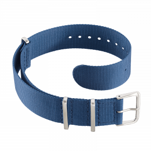 Accessoires Durchziehband Nylon Blau