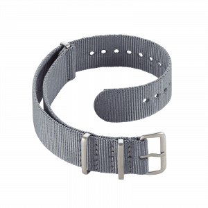 Accessoires Durchziehband Nylon Grau