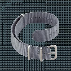 Accessoires Durchziehband Nylon Grau 18 mm