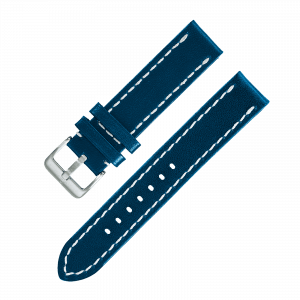 Leather strap dark blue