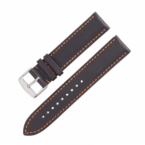 Leather strap Nytech GMT black/orange
