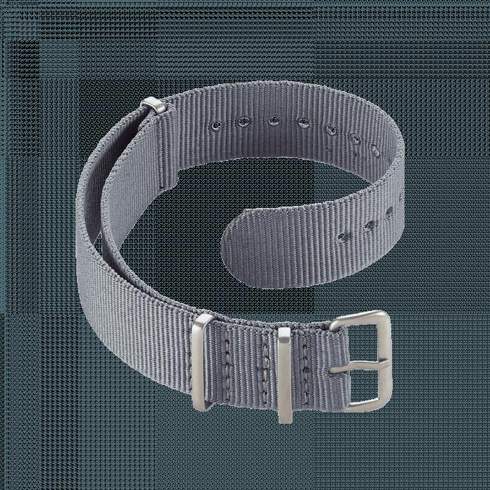 Accessoires Durchziehband Nylon Grau 20 mm