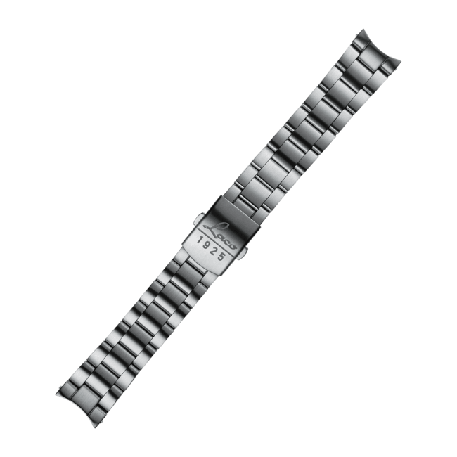 Edelstahlarmband mit Aligatorendstück 18mm