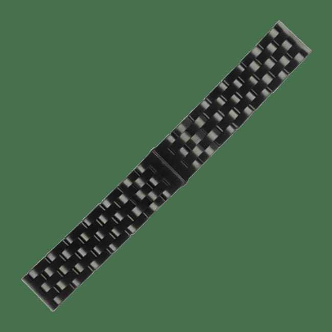 Edelstahlband schwarz 24
