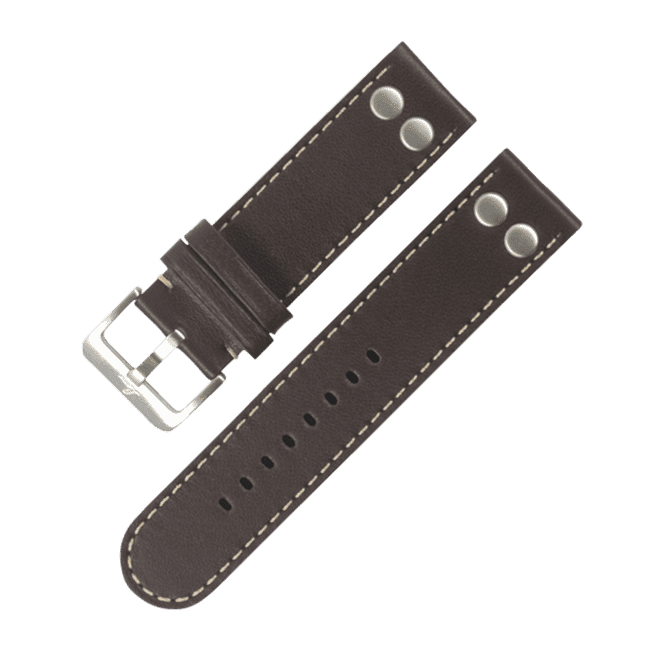 Pilot strap darkbrown XL 20 mm