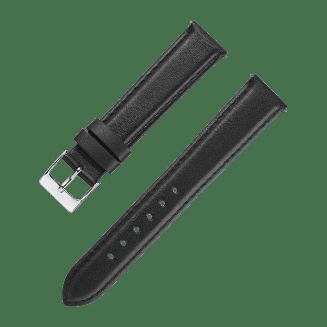 Correa de cuero en negro de 20 mm