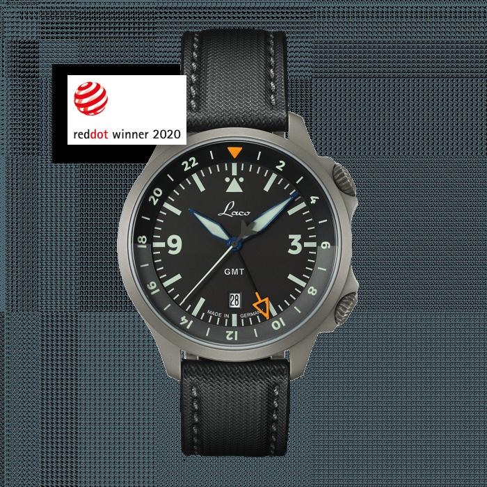 Fliegeruhren Sondermodelle FRANKFURT GMT SCHWARZ